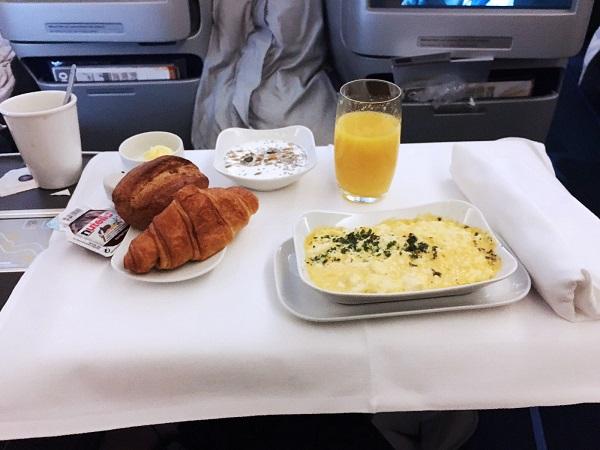 business class frühstück