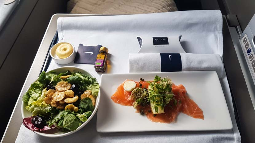 Unser Essen in der Business Class