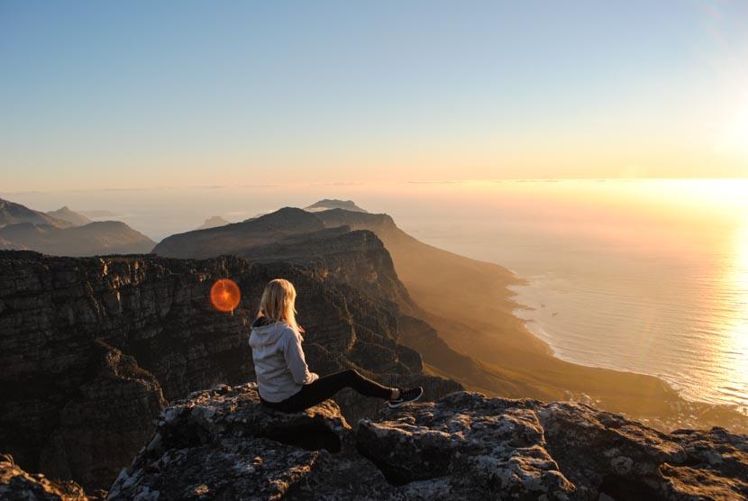 Suedafrika Kapstadt Tafelberg