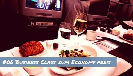 Business zum Ecomomy Preis fliegen