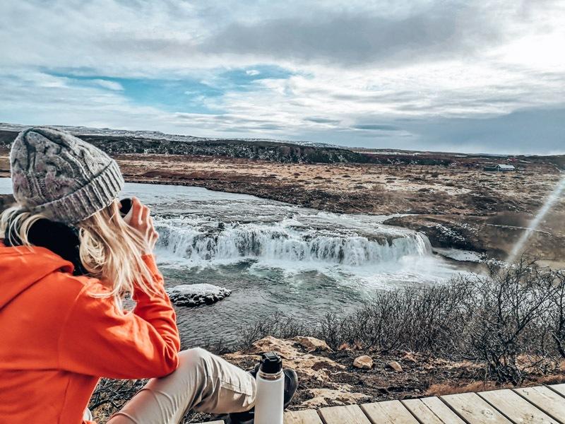 Island Faxi Wasserfall