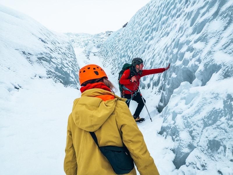Island Gletscherwanderung Gletscherspalte