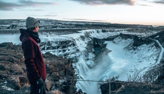 Island Gulfoss Wasserfall oben