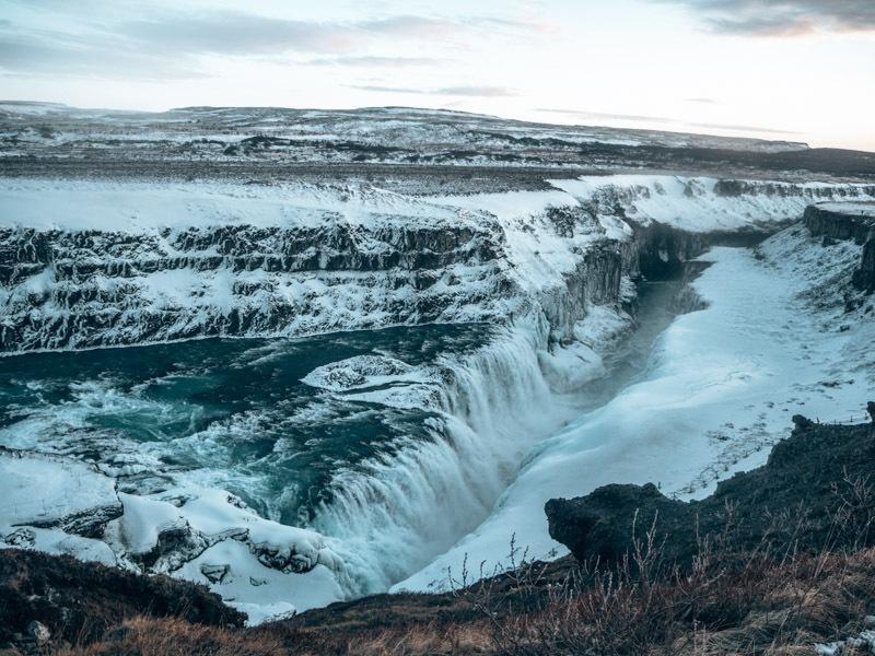 Island Gulfoss Wasserfall
