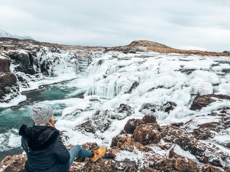 Island Langarfoss Wasserfal