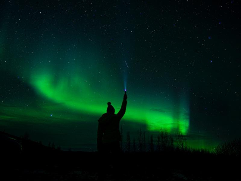 Island Nordlichter Taschenlampe