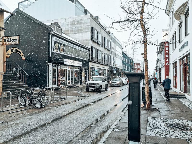 Island Reykjavik Stadtzentrum