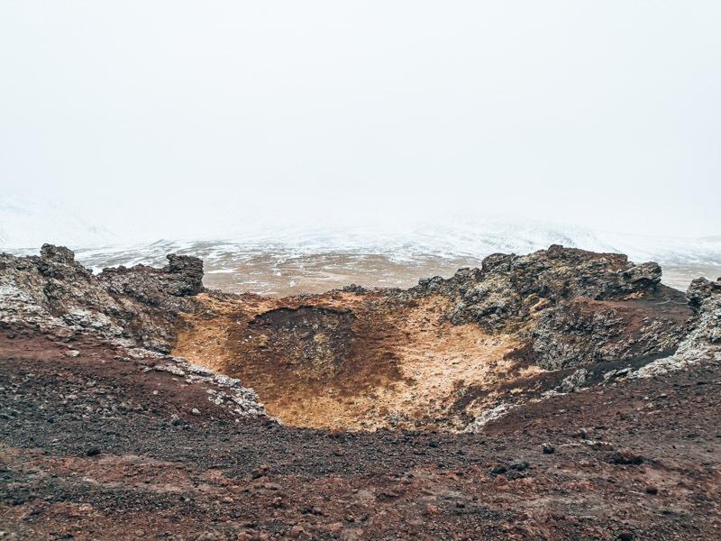 Island Saxhóll Krater