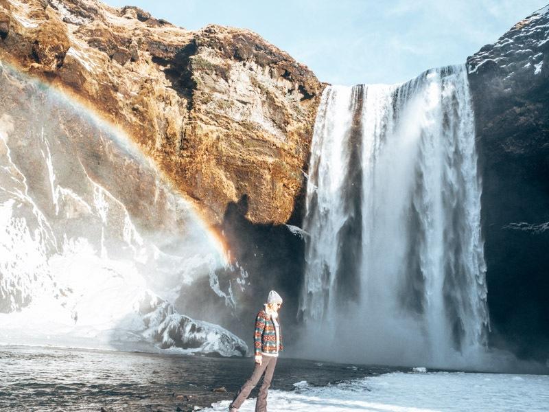 Island Skogafoss Wasserfall
